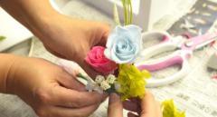 【花に触れる生活を!】プリザーブドフラワー体験レッスン♪マンツーマンから少人数まで